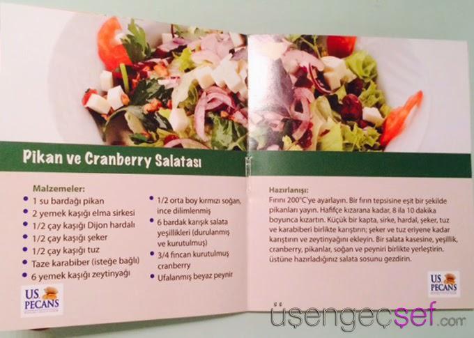 ceviz cranberry salata tarifi