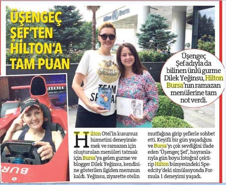 Bursa Hilton Dilek Yeginsu haber 1