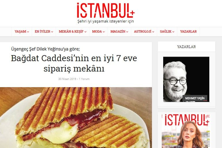 Istanbul plus dergisi dilek yeginsu usengec sef 1