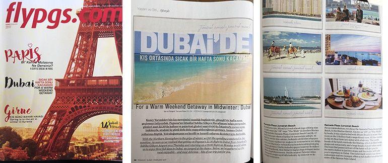 Pegasus Havayolları Dergisi FlyPgs.com Magazine Dilek Yeğinsü / Üşengeç Şef – Dubai yazısı