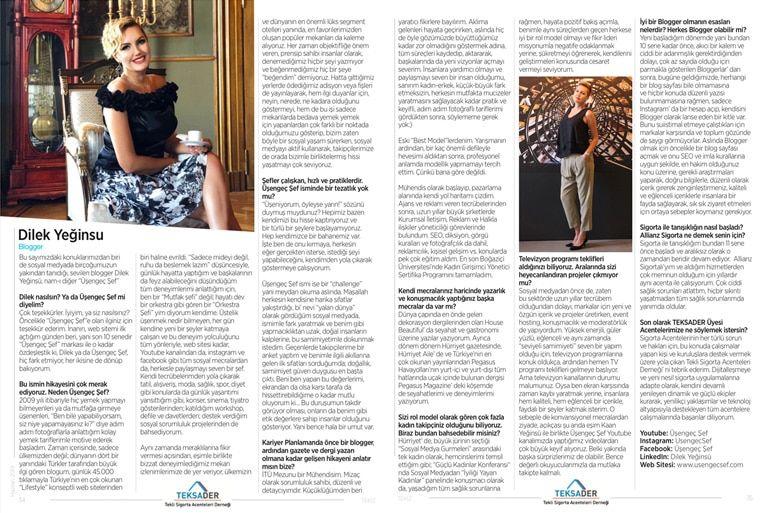 TEKSADER Tekiz Dergisi Dilek Yeğinsü Röportajı